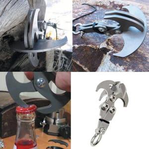 Frete grátis Gravidade Gravidade Grappling Hook Escalada Ao Ar Livre Garra Survival Carabiner Tool Set Garra Acessórios Sobrevivência de Aço Inoxidável
