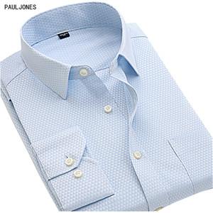 Slim Fit Paul Jones longues manches solides Hommes Chemises sociaux Chemises Chemise Blanche d'affaires pour hommes de qualité bon marché de la Chine de vêtements importés