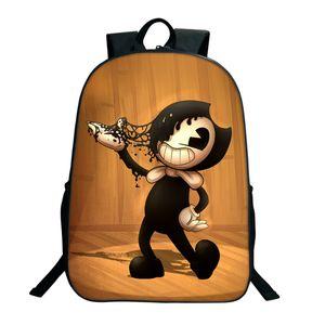 2018 Sacchetti di scuola per bambini Bendy e The Ink Machine Backpack Studente Book Backpack Daily Cartoon School Gifts