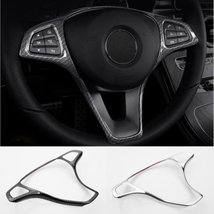 Coperchio pulsante volante dell'automobile Telaio Trim Accessori auto per Mercedes Benz Classe E W213 Classe C W205 Classe GLC X253 Car Styling
