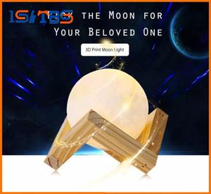 3D gece lambası Baskı Ay Lambası 2 Renk Değişimi Dokunmatik Anahtarı Yatak Odası Kitaplık Gece Lambası Ev Dekor Yaratıcı Hediye