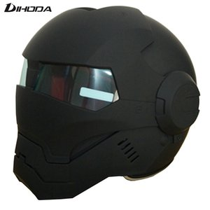 Masei 610 abs preto dos homens negros ironman iron man capacete da motocicleta capacete metade do rosto aberto casque motocross