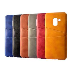Coque de couro pu para samsung galaxy a8 2018 case de luxo tampa traseira titular do cartão casos de telefone móvel para samsung galaxy a8 plus 2018