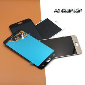 Para Samsung A8 LCD con pantalla táctil completa para Samsung Galaxy A8 A800 A800F A8000 LCD, brillo ajustable