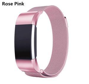 Fitbit 충전을위한 10 색 자석 Milanese 루프 메탈 밴드 Blaze Fitbit AlTA HR 팔찌 스테인레스 스틸 시계 팔찌 메쉬 스트랩