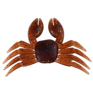 Nouveau 5pcs 8cm / 7g Crabe Simulation Leurres De Pêche En Caoutchouc Souple Appâts Artificiels Leurre De Poisson Accessoires De Pêche Outils De Pêche