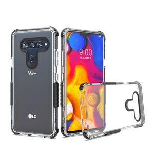 LG X GÜÇ 3 ALCATEL 1X EVOLVE ALCATEL TETRA Crystal Clear Çift Renk TPU Kılıf Şok Emme Esnek Arka kapak Kabuk Oppbag