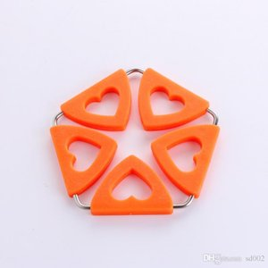 Cup Coaster Originality Silicona en forma de corazón Pot Holders Resistente al calor Para la cocina Práctico Fácil Llevar Novela 4 5jy cc