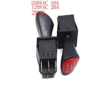 3 단 6 위치 로커 스위치 16A 20A 250VAC 125VAC 검정색 렌치 토글 스위치