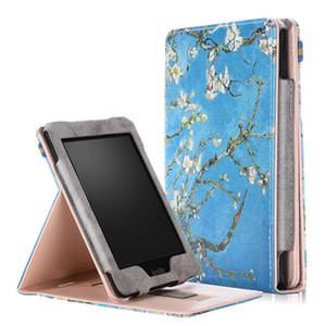 Окрашенные PU кожаный чехол с передним держателем для Amazon Kindle Paperwhite 1 2 3 флип смарт-чехол для Kindle 958 2015 + стилус