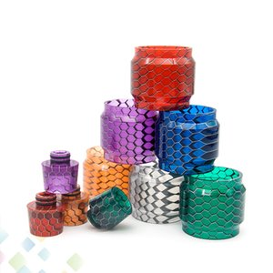 Grid Resin Tube Kit Honeycomb Replacement Drip Tip with Tubes Snakeskin Set Fit TFV12 TFV8 Baby FreeMax FireLuke Mesh Resa Prince 11 Style