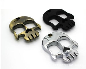 New Self Defense Skull Head Metal Buckles Emergency Self Protection Portable Finger Buckle