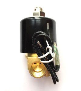 "DC12V / 24V-AC220V 1/2 ""BSP de latón normalmente cerrado electroválvula eléctrica envío gratis"