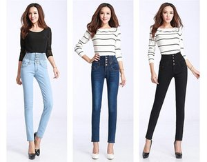2018 Denim Pants Fashion Women Elastic High Waist Skinny Stretch Jean Female Spring Jeans Feet Pantalones mujer Plus Size