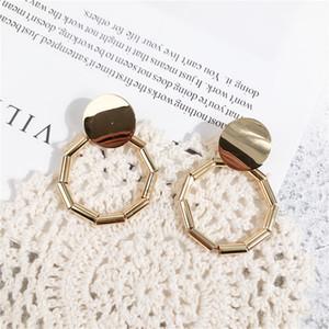 Boucles d'oreilles en métal géométrie circulaire atmosphère 2018 Nouvelle mode moderne boucles d'oreilles boucles d'oreilles femmes bijoux livraison gratuite