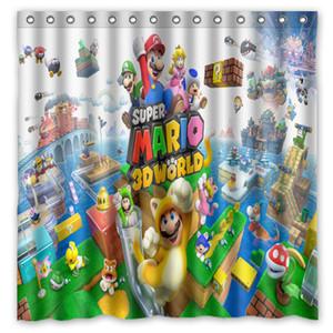 Новый Нестандартная Конструкция!Аниме Супер Марио печатных водонепроницаемый полиэстер занавески для душа/ванна занавес (размер: 180X180CM)