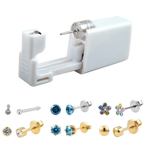 Einweg Sicher No Pain Sterile Ear Ohrstecker Stude Piercing Gun Piercer Tool Kit-Maschine-Kit-Ohrring-Einheiten Piercing-Schmuck