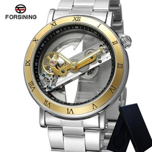 Forsining Mécanique Automatique Montre Homme Creative Transparent Clock Pont Top Sport Homme Montre 0409