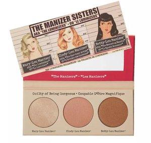 Sıcak Makyaj Kozmetik Manizer Sisters 3 Renk Yüz Preslenmiş Toz Betty-Lou Cindy-Lou Pırıltılı Pudra Paleti Bronzlaştırıcılar Highlig ücretsiz kargo