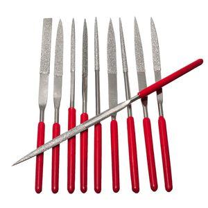 10pcs Diamond File Aguja Manija Archivos Abrasivo Tool Aguja Manija Archivos Luthier Tools