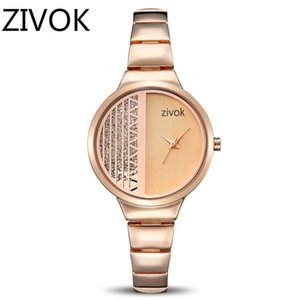 Zivok Creative Women Bracelet Watch Rose Gold Ladies Lovers Women Watches Clock Luxury Girl Quartz Wrist Watch female clock