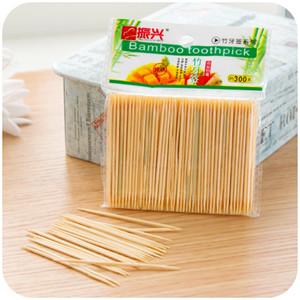 Doble cabezal de bambú verde palillo de dientes a granel hotel de bambú bolsa de bambú desechable portátil portátil ultra fino palillo de bambú