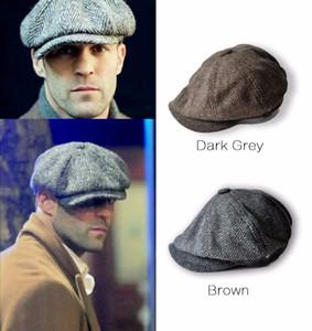 Moda uomo adulto all'ingrosso moda tappo ottagonale cappello da ragazzo newsboy Baker cappello acciarini peakboy gatsby country cappello a spina piatta berretto da baseball