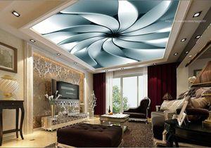 3D 벽지 사용자 지정 3D 천장 벽지 벽화 가로 벽지 천장 벽화 추상 금속 배경 홈 장식