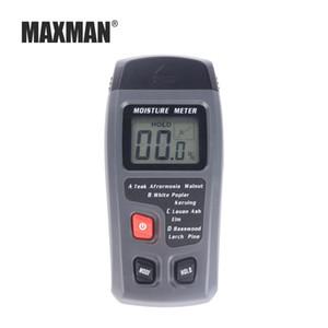 MAXMAN Portátil Agulha de Madeira Testador de Umidade LCD Medidor de Umidade Digital Cartão De Madeira Misturado Medidor de Solo Higrômetro