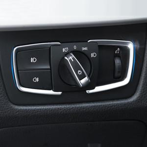 자동차 스타일링 헤드 라이트 스위치 버튼 BMW 용 장식 프레임 커버 트림 스티커 1 2 3 4 시리즈 X5 X6 3GT F30 F31 F32 F34 F15 F16 F16 F