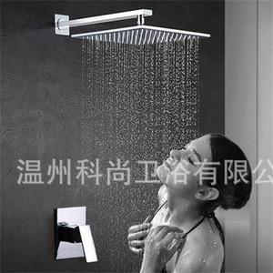 Rubinetto doccia totale in rame di alta qualità Set Entrata a parete Funzione singola Quadrato rotondo scuro Accessori per il bagno Accessori per attrezzi 175ks jj
