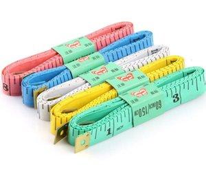 البلاستيك لينة حاكم / شريط قياس الملابس / شريط قياس حاكم حاكم الخياطة المنزلية العملية 1.5 متر مع رئيس الحديد
