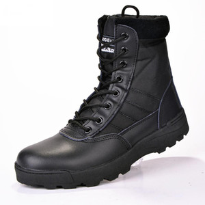 new us Stivali da uomo in pelle da combattimento Forza da combattimento Stivali tattici da fanteria askeri bot army bots army shoes erkek ayakkabi