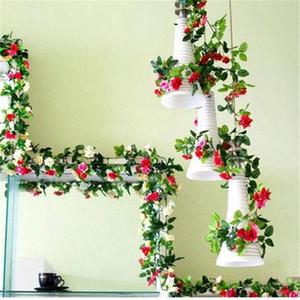 """Künstliche Rose Garland Silk Blume Reben Efeu Hochzeit Garten Party Dekor 51 """"Party Dekoration"""