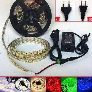 Kit Full 5M 5050 LED Flexible Strip Light Tape Ribbon 300LEDs IP65 Waterprope + 12V 3A Power Supply + DC Connector