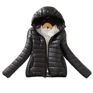 Kadınlar Yükseltme Sürümü Süper Sıcak Kış Parka Ceket Kaban Bayanlar Kadınlar Ceket İnce Denim Kısa Temel Yastıklı