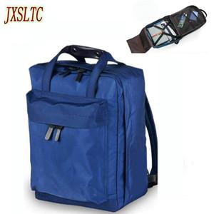 JXSLTC Нейлоновая спортивная сумка Мужчины Маленькие дорожные сумки Складной рюкзак Большая вместимость Сумка выходного дня Женская упаковка Кубики Дорожный рюкзак