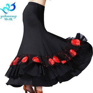 Damen Flamenco Dance Kostüm Rock Ballroom Tanzkleid Standard Modern Walzer Tango Performance Outfits # 2790