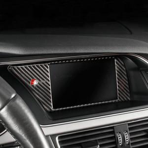Console intérieure de voiture en fibre de carbone de navigation GPS NBT écran cadre couverture garniture accessoires automatiques pour Audi A4 B8 A5 09-16 style de voiture