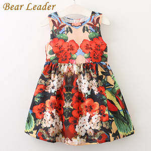 Bear Leader Girls Dress 2017 NOVITÀ Summer Style Princess Dress Sleeveless Floral Pattern Stampa Design per Neonate Dress 3-8Y