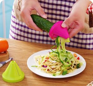 Kitchen Gadget Funnel Vegetable Carrot Radish Cutter Shred Slicer Spiral Device