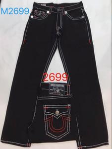Nuovi Jeans True Jeans da uomo ROBIN Pantaloni di alta qualità Denim Designer di colore solido scuro Tr dritto per pantaloni da uomo per trasporto libero