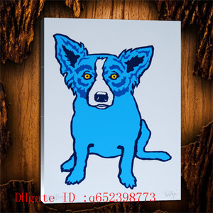 George Rodrigue Blue dog -42,Home Decor HD Printed Modern Art Painting on Canvas (Unframed Framed)