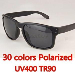 2018 Новый мужчина Женщины Бренд Солнцезащитные очки Дизайнер Солнцезащитные Очки 9102 Поляризованные Лесозащитные Очки TR90 Рамка Спортивные Очки для вождения 30 Цветов