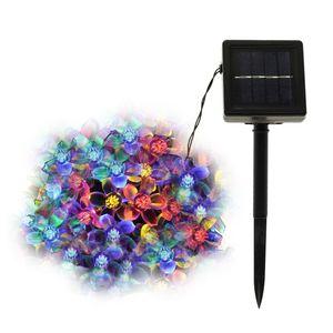 50LED Solar String Flowers Fairy Lights 7m Impermeabile Outdoor Solar String Lights Decorated Garden Luce natalizia