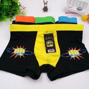 10Pcs / lot 도매 우유 실크 남자 Underwears의 권투 선수 소년 패션 인쇄 플러스 크기 4XL 통기 성과 편안한 남자 반바지