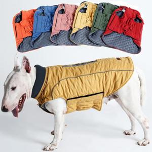 Haute Qualité Vêtements De Chien Matelassé Chiot Manteau Designer Water Repellent Hiver Chien Veste Gilet Rétro Cosy Chaud Pet Outfit Vêtements Taille S-3XL