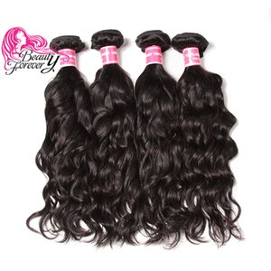 Beauty Forever Natural Wave Capelli indiani 8-26 pollici Bundles 4 Bundles 100% capelli umani Estensioni dei capelli di colore naturale all'ingrosso Tessuto Nizza Bulk