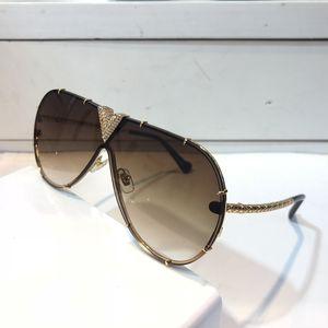 MILLIONAIRE Z1060 Küçük Taşlar Ile Güneş Gözlüğü Retro Vintage Tasarımcı Güneş Gözlüğü Parlak Altın Yaz Tarzı Lazer 1060 Altın Kaplama En kaliteli