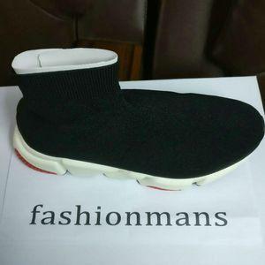 Yüksek Çorap Ayakkabı Lüks Hız Eğitmen Eğlence Çizmeler Kızlar Lady 2019 Erkekler Kadınlar Koşu Ayakkabıları Kişisel Yeni Sıcak 4 Renkler Sneakers